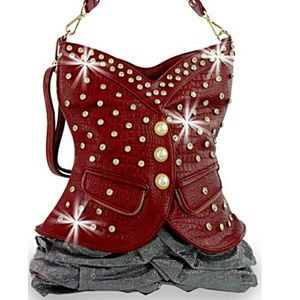 Handbags - Red vest style hobo handbag